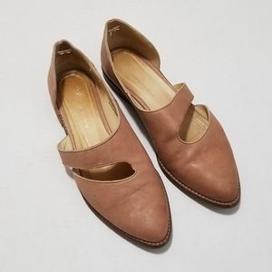 Anthropologie 37 Leather Dusty Mauve Pink Flats